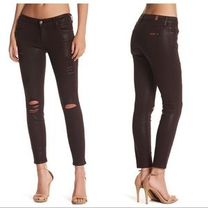 7 For All Mankind Ankle Skinny Distressed Jeans 28